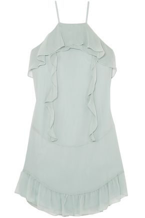 RACHEL ZOE Colby ruffled silk-chiffon mini dress