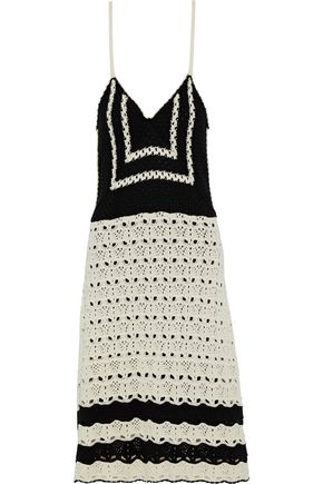 REDValentino Crocheted cotton slip dress