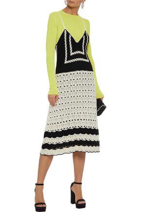 REDValentino Crocheted cotton slip dress