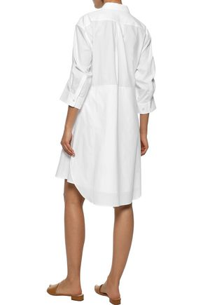 IRIS & INK Violet cotton-poplin shirt dress