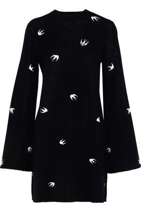 McQ Alexander McQueen Jacquard-knit mini dress