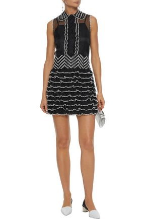 REDValentino Embroidered tulle mini dress