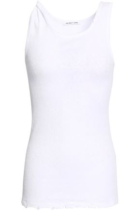 HELMUT LANG Ribbed cotton-jersey tank