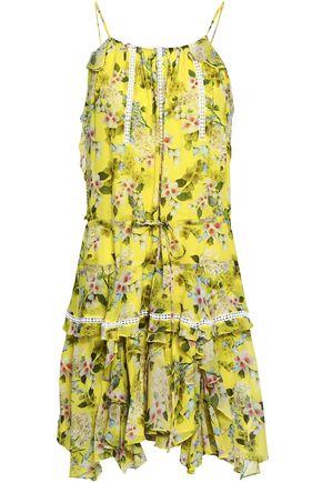 MARISSA WEBB Ruffled silk-crepe mini dress