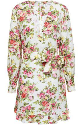 ZIMMERMANN Belted linen mini dress