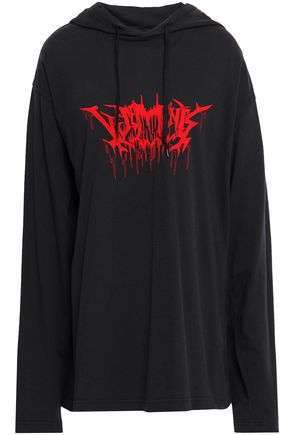 VETEMENTS Printed cotton-jersey hooded top