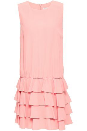REDValentino Ruffled tiered satin-crepe mini dress
