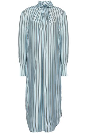 ZIMMERMANN Striped twill midi dress