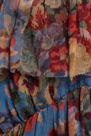 ZIMMERMANN Cutout floral-print silk-georgette mini dress
