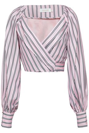 ZIMMERMANN Striped twill wrap top