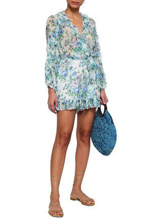 14e128e6803 ... ZIMMERMANN Breeze ruffle-trimmed floral-print silk-georgette playsuit  ...