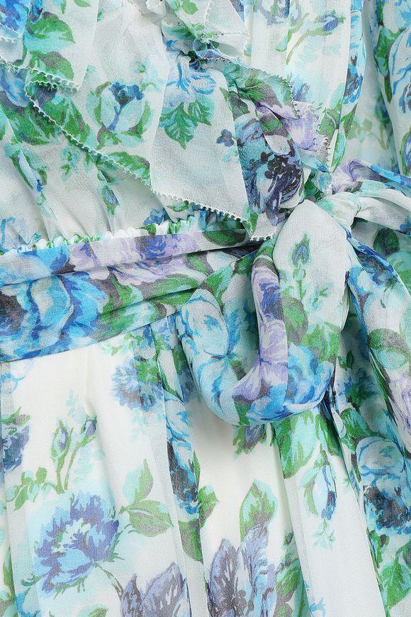 f697e40f2f3 Breeze ruffle-trimmed floral-print silk-georgette playsuit ...
