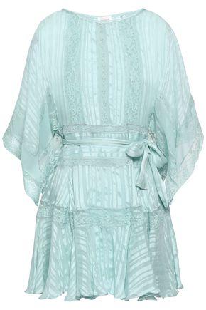 ZIMMERMANN Lace-trimmed silk-jacquard mini dress