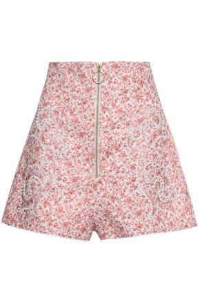 ZIMMERMANN Floral-print linen shorts