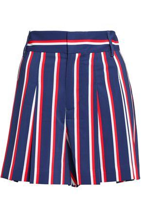 ALICE + OLIVIA Striped woven shorts