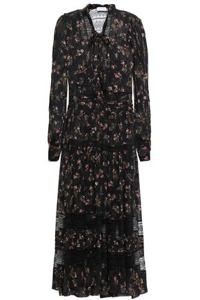 ZIMMERMANN Lace-trimmed floral-print georgette midi dress