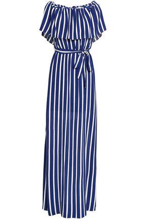 ALICE + OLIVIA Off-the-shoulder striped woven maxi dress