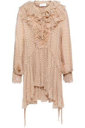 ZIMMERMANN Ruffled floral-print silk-georgette blouse