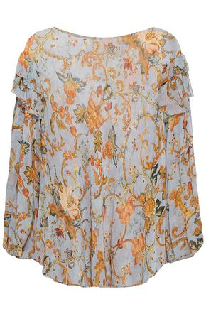ZIMMERMANN Printed silk-georgette blouse