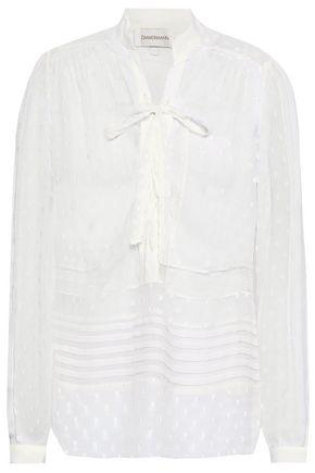 ZIMMERMANN Lace-up fil coupé blouse