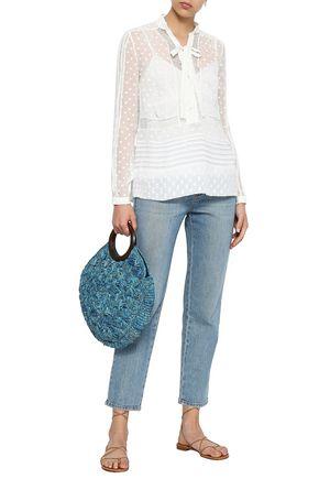 ZIMMERMANN Radiate pussy-bow lace-paneled fil coupé gauze blouse