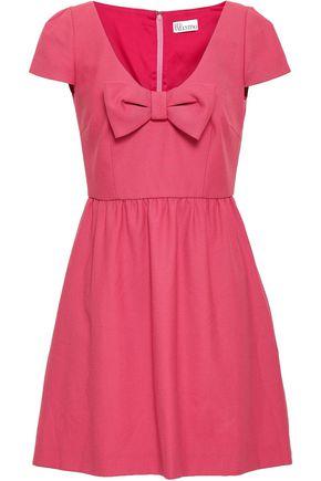 REDValentino Bow-embellished crepe mini dress