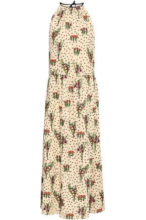 REDValentino Embroidered silk-georgette maxi dress