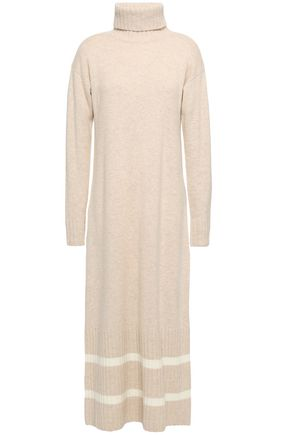 MADELEINE THOMPSON Striped wool and cashmere-blend turtleneck midi dress