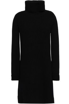 MADELEINE THOMPSON Indra wool and cashmere-blend turtleneck mini dress