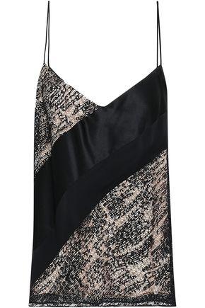 PRABAL GURUNG Satin-jacquard camisole