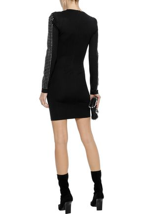 W118 by WALTER BAKER Tessa crystal-embellished crepe mini dress