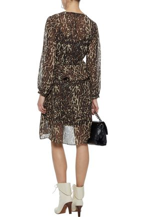 W118 by WALTER BAKER Adam ruffled leopard-print chiffon dress
