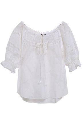 MARISSA WEBB Amalia cotton-blend lace blouse