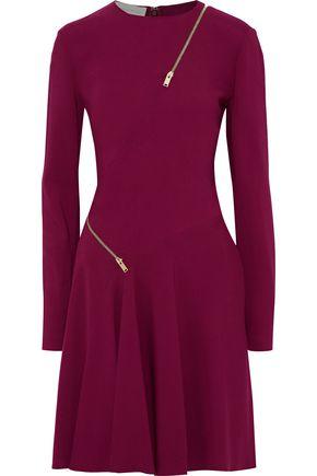 STELLA McCARTNEY Zip-embellished crepe dress