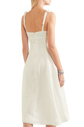 MIGUELINA Mina cotton-gauze midi dress