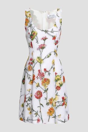 PRABAL GURUNG Floral-brocade mini dress