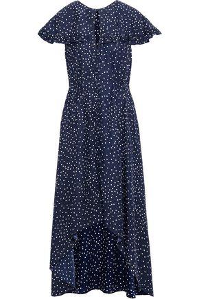 MAGDA BUTRYM Avola ruffled polka-dot silk-jacquard midi dress