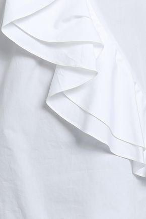 PRABAL GURUNG Ruffled cotton-poplin blouse