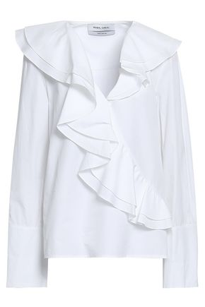 PRABAL GURUNG Ruffled cotton-poplin blouse