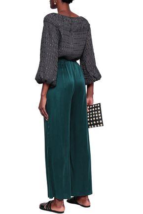 ZIMMERMANN Pleated fil coupé blouse