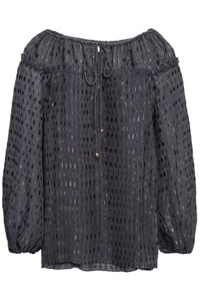 ZIMMERMANN Pleated fil coupé blouse