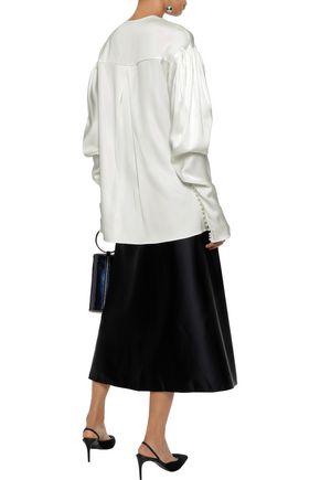 MAGDA BUTRYM Camas pleated silk-charmeuse blouse