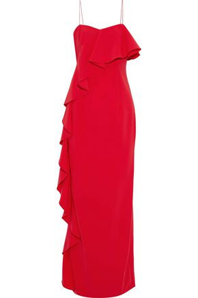 SACHIN & BABI Ruffled crepe gown