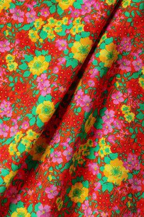 MSGM Floral-print cotton-gabardine mini dress