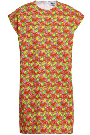 MSGM Floral-print cotton-gabardine mini dress
