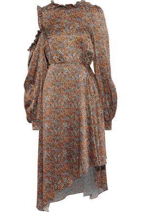 MAGDA BUTRYM Cagliari cutout floral-print silk-satin dress