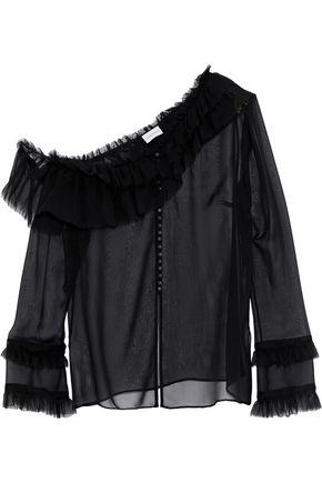 MAGDA BUTRYM Vigo ruffled silk-chiffon top
