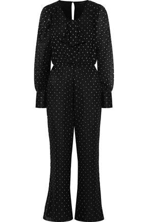 W118 by WALTER BAKER Emory metallic fil coupé chiffon jumpsuit