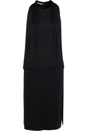 STELLA McCARTNEY Fringed stretch-cady dress