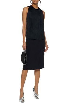 STELLA McCARTNEY Fringed stretch-cady dress